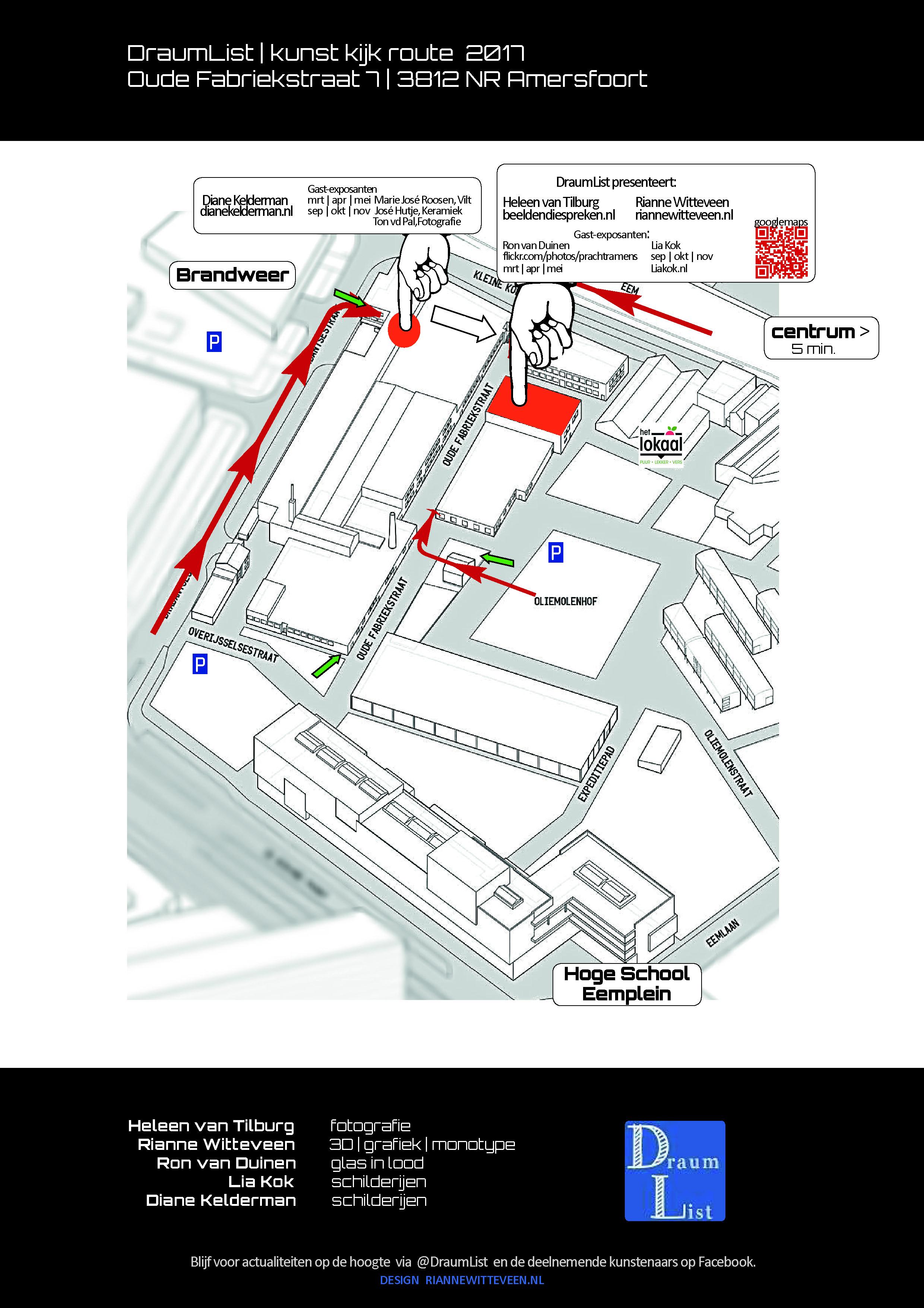 plattegrond routebeschrijving