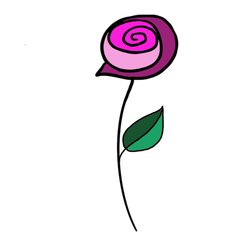 Een getekende abstracte roos, zowel printbaar als gereed voor digitale toepassingen. het betreft 1 van de voorstelontwerpen in de eerste ronde van de samenwerking met deΩe leuke opdrachtgever die zich zowel op de Nederlandse als Amerikaanse markt begeeft.