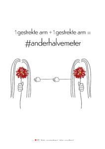 meisje met de rode bloem #mmdrdbl #anderhalvemeter #blijfthuis #wedoenhetsamen