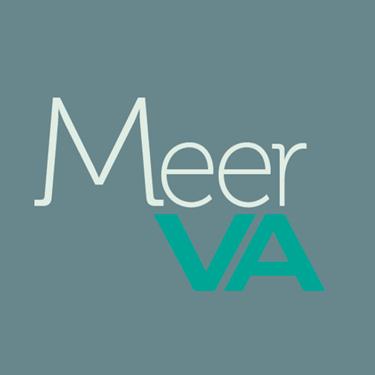 logo ontwerp voor het bedrijf meerva, visueel assistent.