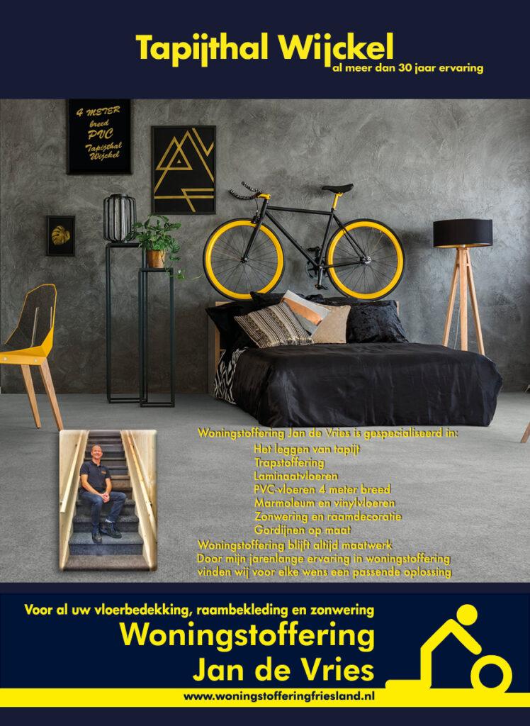 Advertentie voor de #ondernemerskrant van de #fryskemarren  #woningstofferingfriesland