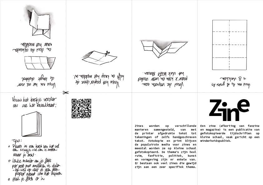 stappenplan voor het maken van een gratis Zine boekje. DIY Het boekje hoe je het kunt maken is aan te vragen via het e-mailadres